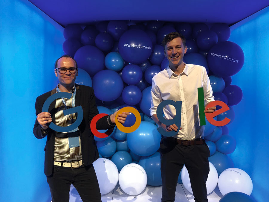 Joel and Dayn Attending a Google Training Event