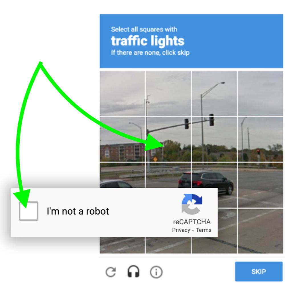 Google reCAPTCHA Anti-Spam Screenshot Image